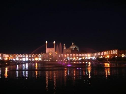 iran mosque water