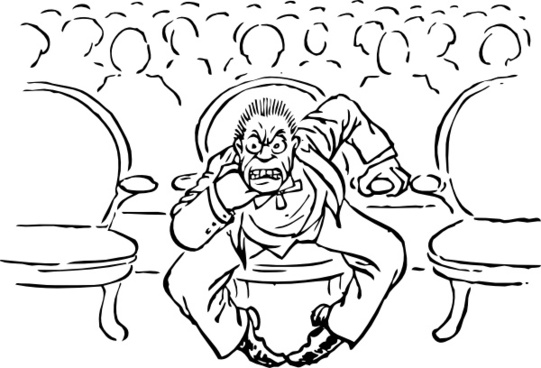 Irate At The Theater clip art