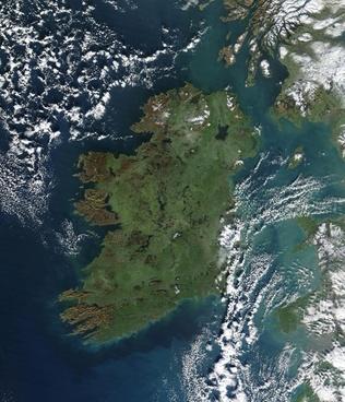ireland aerial satellite image