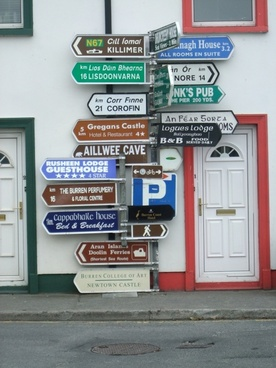 ireland sign posts street sign