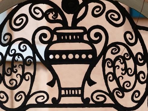 iron railings grid forged
