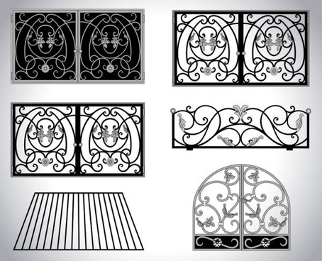 iron window style vector