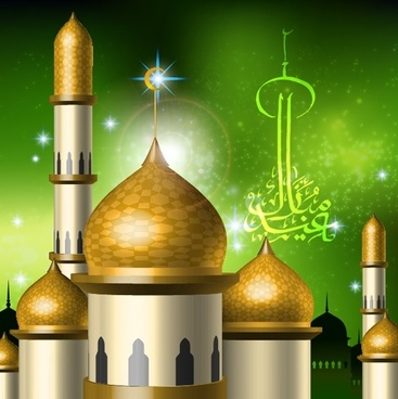 islamicstyle castle vector