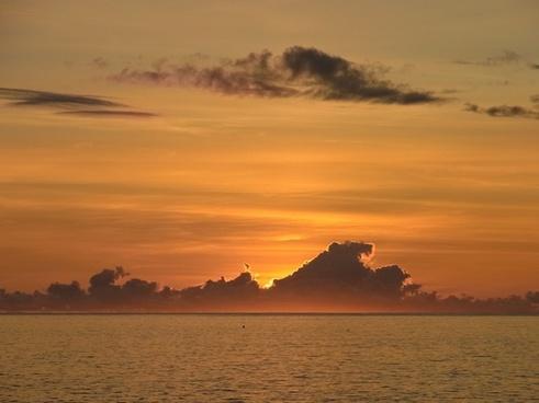 island of hawaii sunset sun