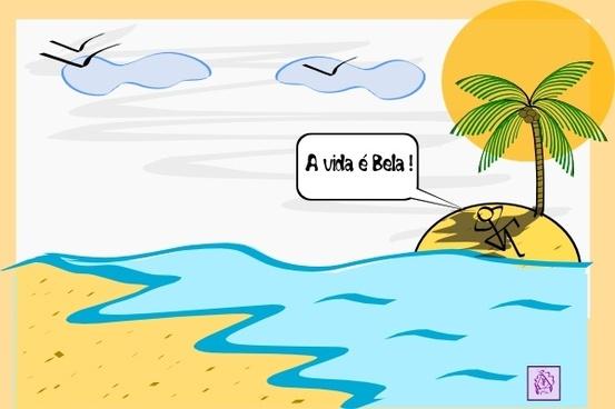 Island Palm Tree Water clip art