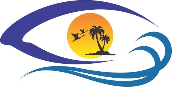 island view vector logo