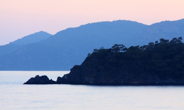 islands at sunset