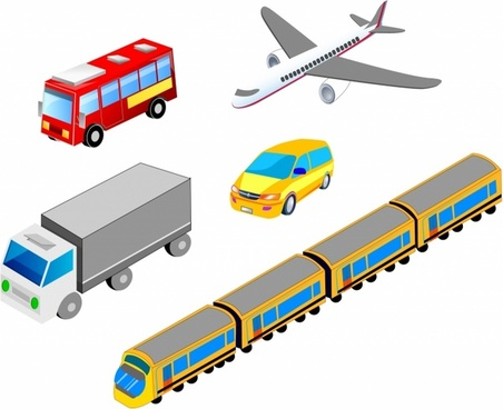 Isometric Transport Icons