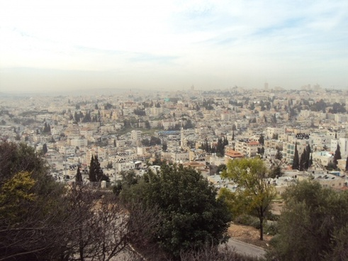 israel holy land view