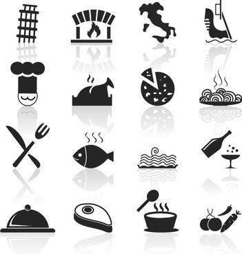 Italian Food and Restaurant icons