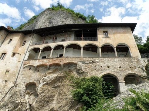 italy santa caterina del sasso monastery