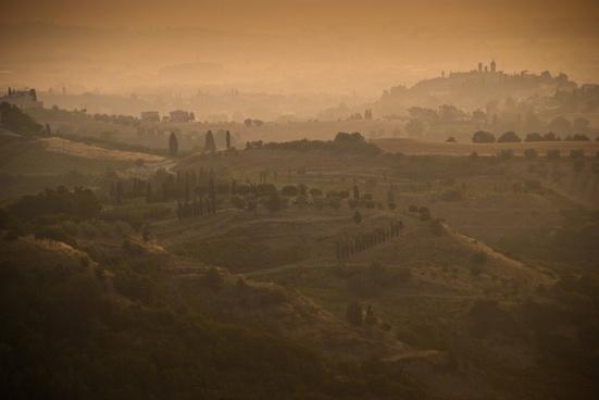 italy tuscany sunrise