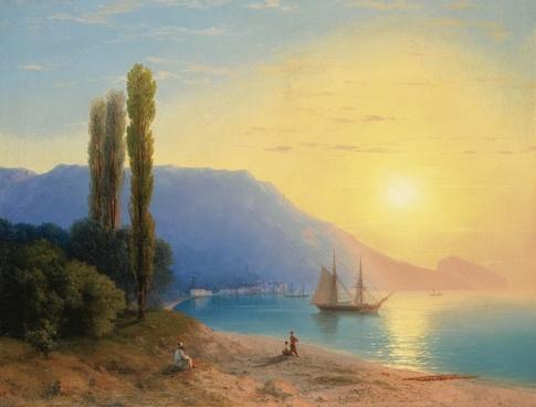ivan alvazovsky landscape painting