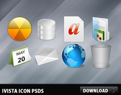 iVista Icon PSDs