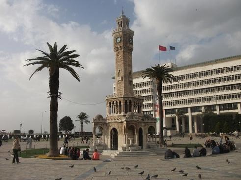 izmir clock tower symbol