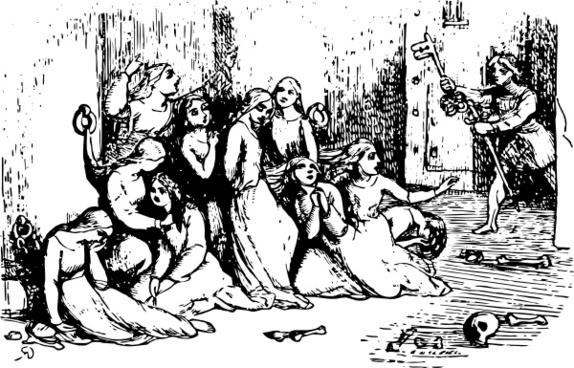 Jack Freeth The Captives clip art