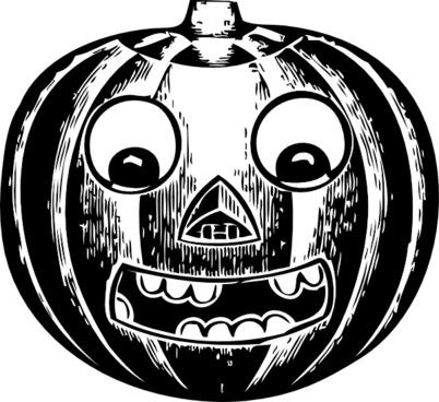 Jack O Lantern With Eyes clip art