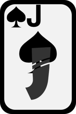Jack Of Spades clip art