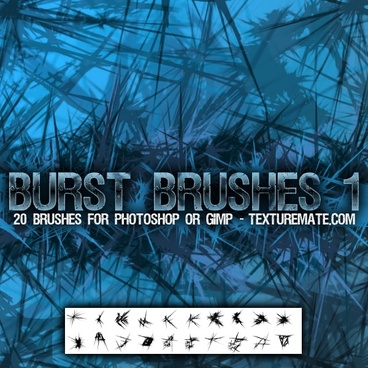 Jagged Ice Burst Brushes