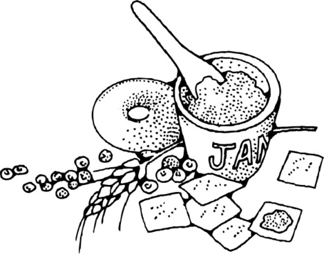 Jam And Crackers clip art