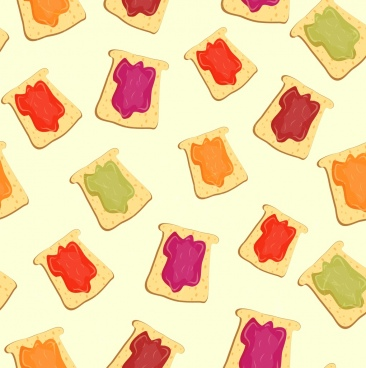 jam food background repeating sandwich icons multicolored design