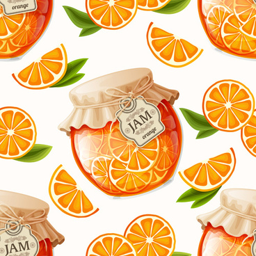 jam glass jar seamless pattern vector