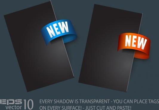 sale tag template elegant dark modern 3d decor