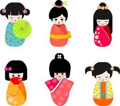japan cultural doll set