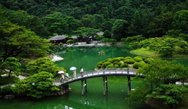 japan japanese garden bridge