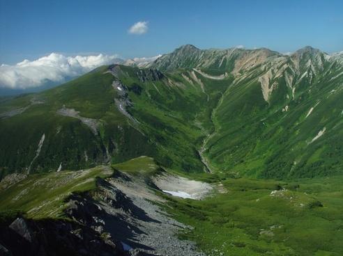 japan landscape mountains