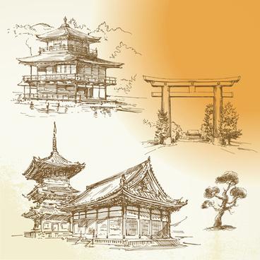 japan object design vector