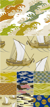 japanese and wind background 2 vector