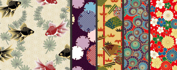 japanese decorative pattern background