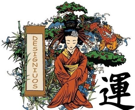 Japanese illustration vectors