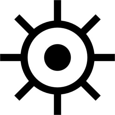 Japanese Map Symbol Lighthouse clip art