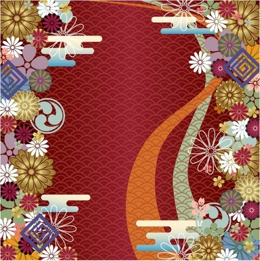 asia traditional flora pattern colorful classical decor