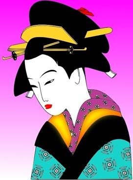 Japanese Woman clip art