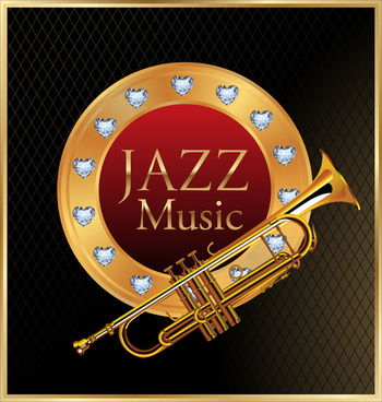 jazz music symbol vector illustration with yellow saxophone