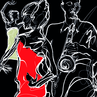 jazz poster publicize template vector