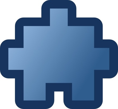 Jean Victor Balin Icon Puzzle Blue clip art
