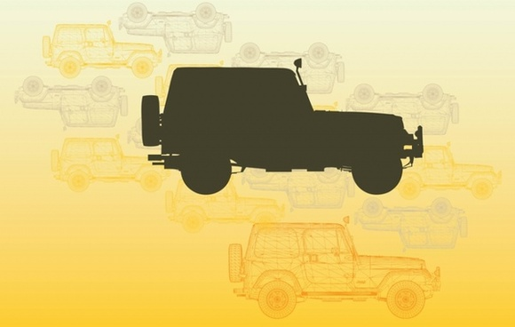 Christmas Jeep Silhouette.Jeep Wrangler Vector Free Vector Download 44 Free Vector