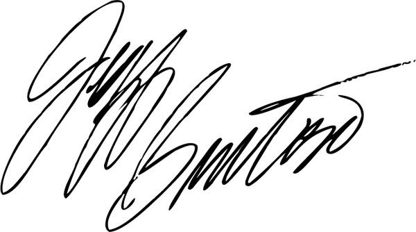 jeff burton signature