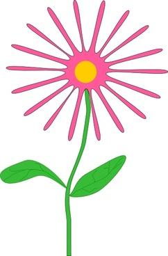 Jenni Whimsical Pink Flower clip art