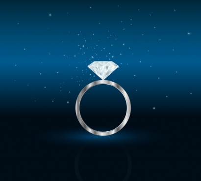 jewelery advertisement diamond ring icon dark backdrop