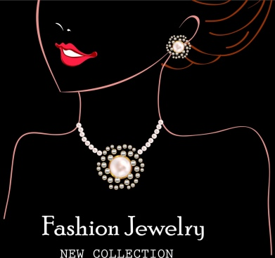 jewelry advertisement woman silhouette design dark background