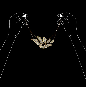 jewelry background dark design hand silhouettes ornament