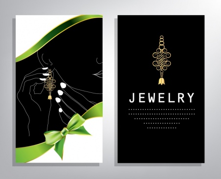 jewelry background sets dark design human gemstone icons