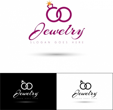 jewelry logo sets calligraphy symbols ornament