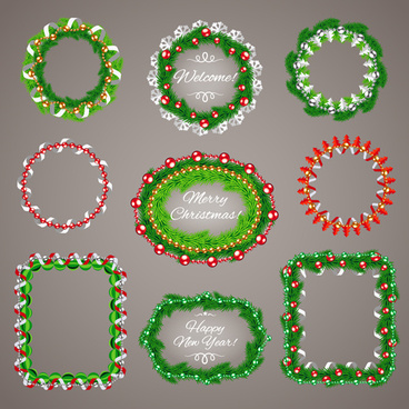 jewelry with needles christmas frame vector