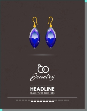 jewly advertisement earrings icons dark backdrop